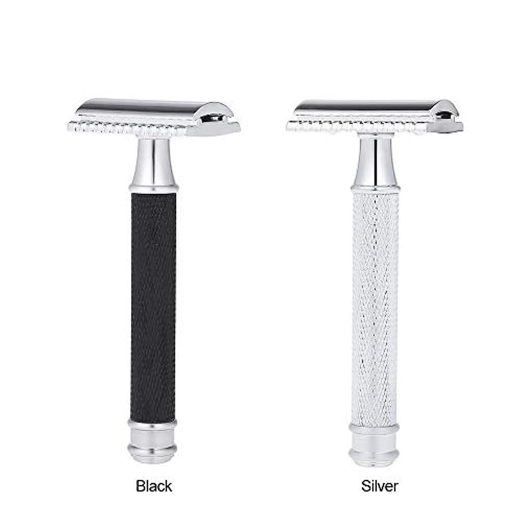 キャプション療法アトラスDouble Edge Classic Safety Razors Double Edge Handled Shaving Razor Stainless Steel Manual Traditional Razor (...