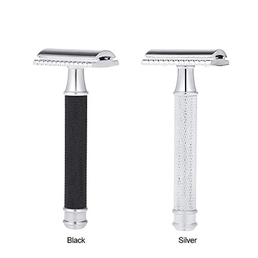 大事にする剣暴力的なDouble Edge Classic Safety Razors Double Edge Handled Shaving Razor Stainless Steel Manual Traditional Razor (...