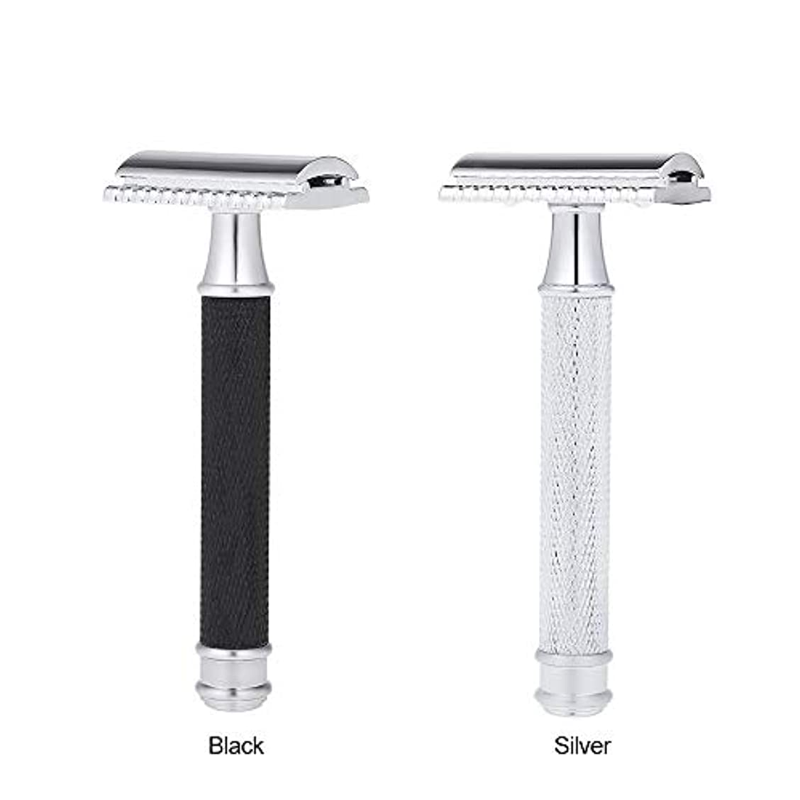 ただやるブルウォルターカニンガムDouble Edge Classic Safety Razors Double Edge Handled Shaving Razor Stainless Steel Manual Traditional Razor (...