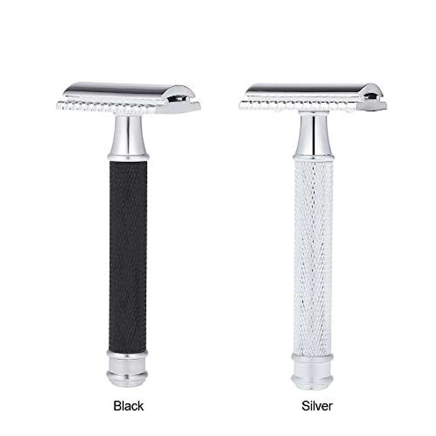 先生アルカトラズ島中毒Double Edge Classic Safety Razors Double Edge Handled Shaving Razor Stainless Steel Manual Traditional Razor (...