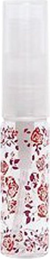 汚す六分儀モンク50421 【ヤマダアトマイザー】 グラスアトマイザー プラスチックポンプ 柄 野バラ レッド