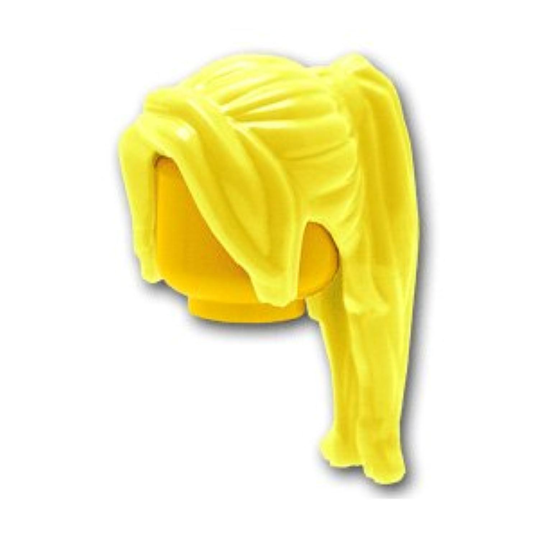 レゴミニフィグパーツ ヘア - ロングポニーテール:[Bt,Lt Yellow / ブライトライトイエロー]【並行輸入品】