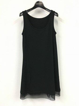 gomme/定番商品 フレアーノースリーブワンピース(黒)サイズ(M)GS-T01-402