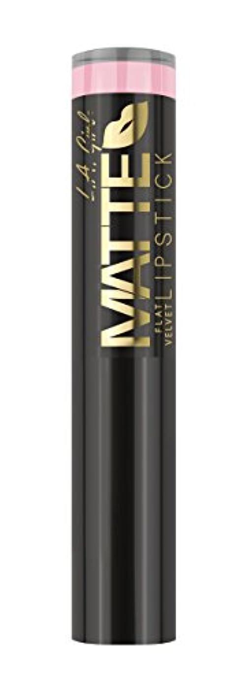 捧げる本質的に社会主義L.A. GIRL Matte Flat Velvet Lipstick Carried Away (並行輸入品)