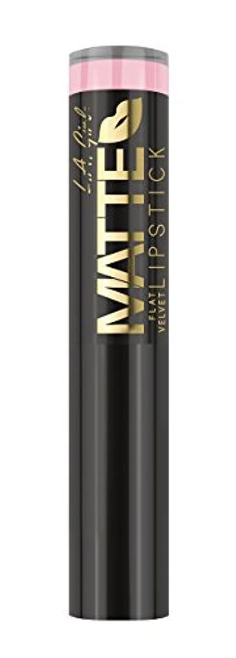 ガイダンス嫌悪買い手L.A. GIRL Matte Flat Velvet Lipstick Carried Away (並行輸入品)