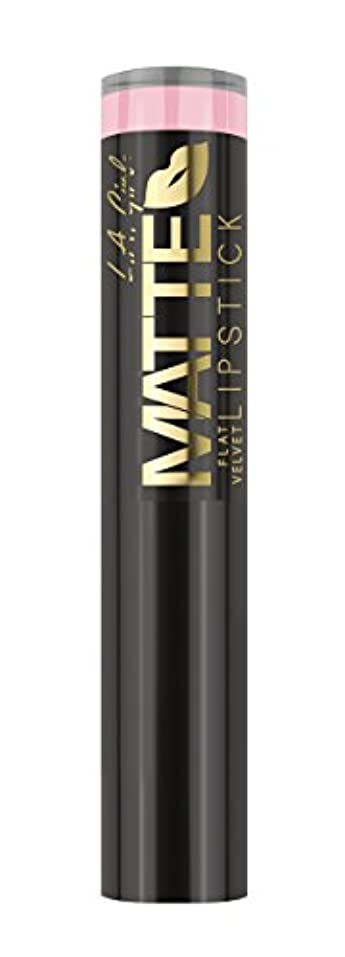 変換する楽観パリティL.A. GIRL Matte Flat Velvet Lipstick Carried Away (並行輸入品)
