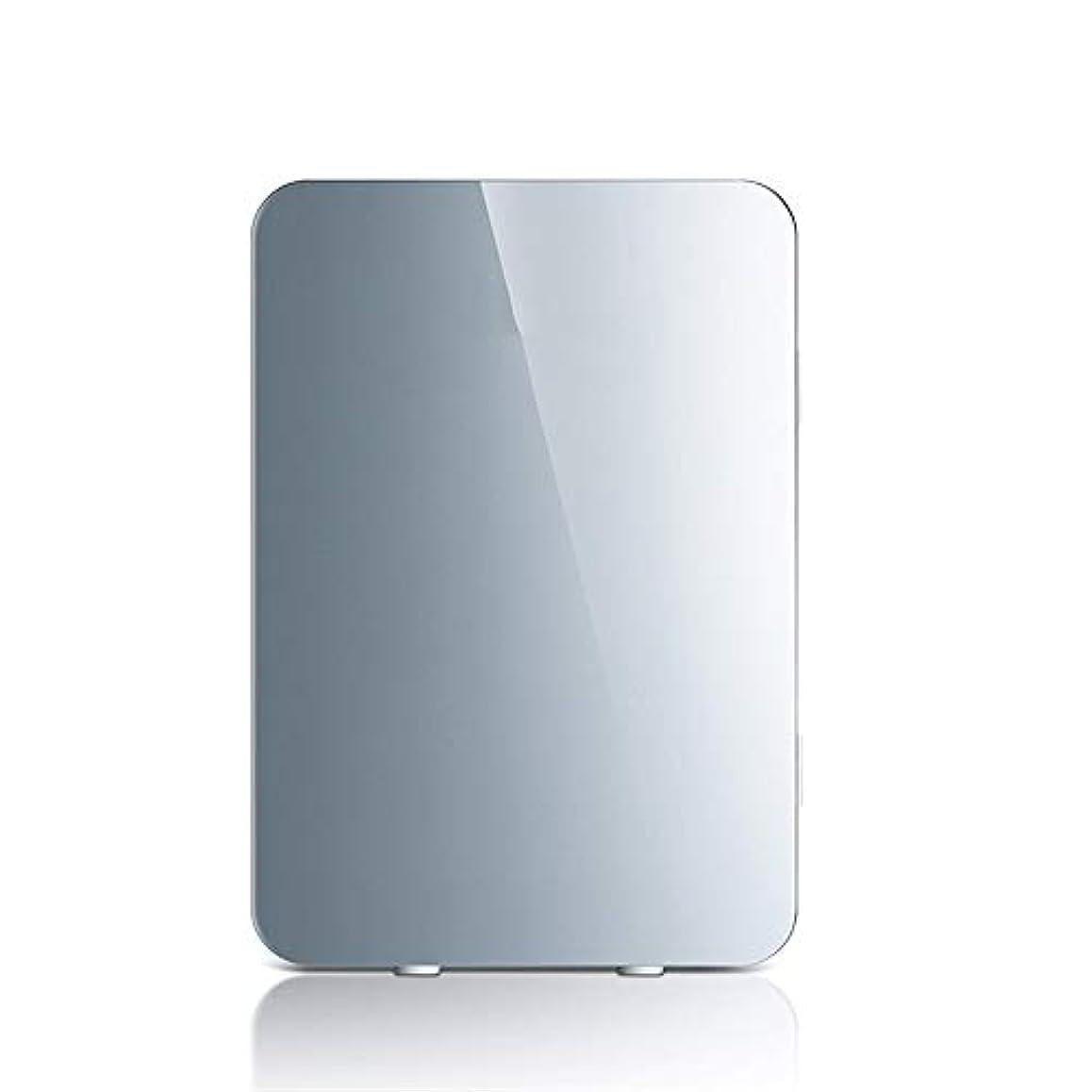 倉庫幻想的自信がある車載用冷蔵庫 20Lミニカー冷蔵庫12V / 220Vポータブルクーラー冷蔵庫用オフィスキャンプ (Color : Silver, Size : 33X28.5X41CM)