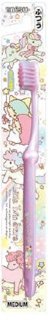 保持ピービッシュリール【まとめ買い】キャラコレ リトルツインスターズハブラシ ふつう ×3個