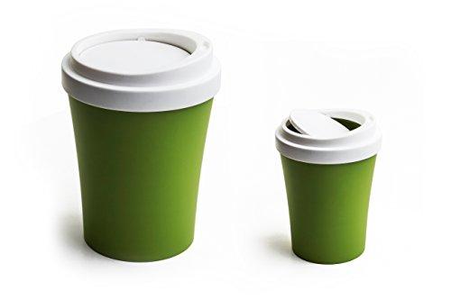 QUALY フタ付きゴミ箱 コーヒービン グリーン 5217043GR