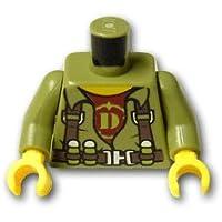レゴブロックパーツ トルソー - ハーネスとダークレッドシャツ:[Olive Green / オリーブグリーン]【並行輸入品】