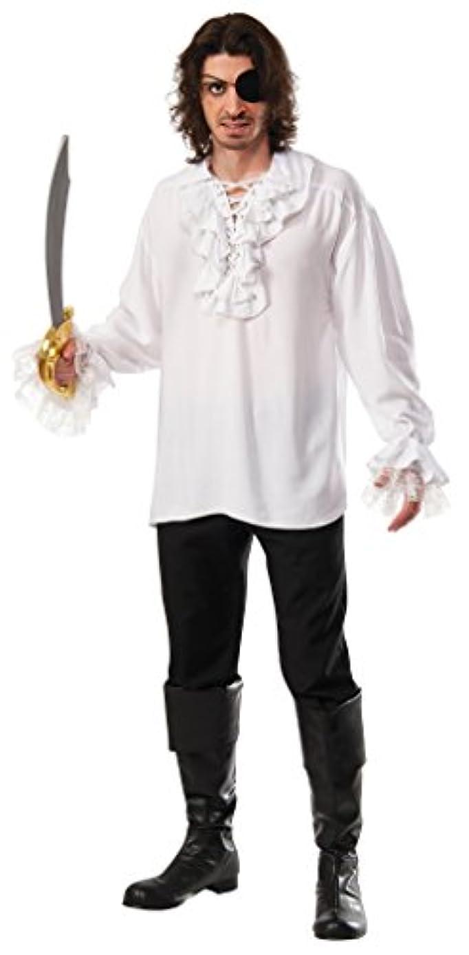 思慮のないコンテンポラリー蒸発フリル付きパイレーツシャツ コスチューム メンズ 165cm-175cm