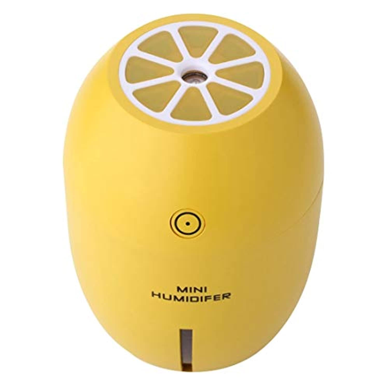 180MLクリエイティブレモンシェイプUSBエア加湿器、発光&透明ウォーターライン&パワーオフプロテクション、車&オフィス&ホーム用USBアロマディフューザー加湿器 実用加湿器 (色 : 黄)