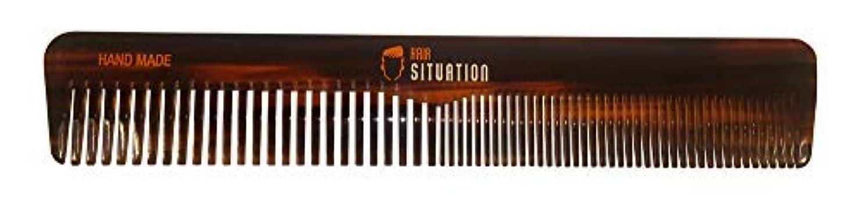 上記の頭と肩投げ捨てる宅配便Men Hair Comb ? Full Size, Handmade Tortoise Shell Design, Split Between Fine and Medium Tooth, Anti-Static &...