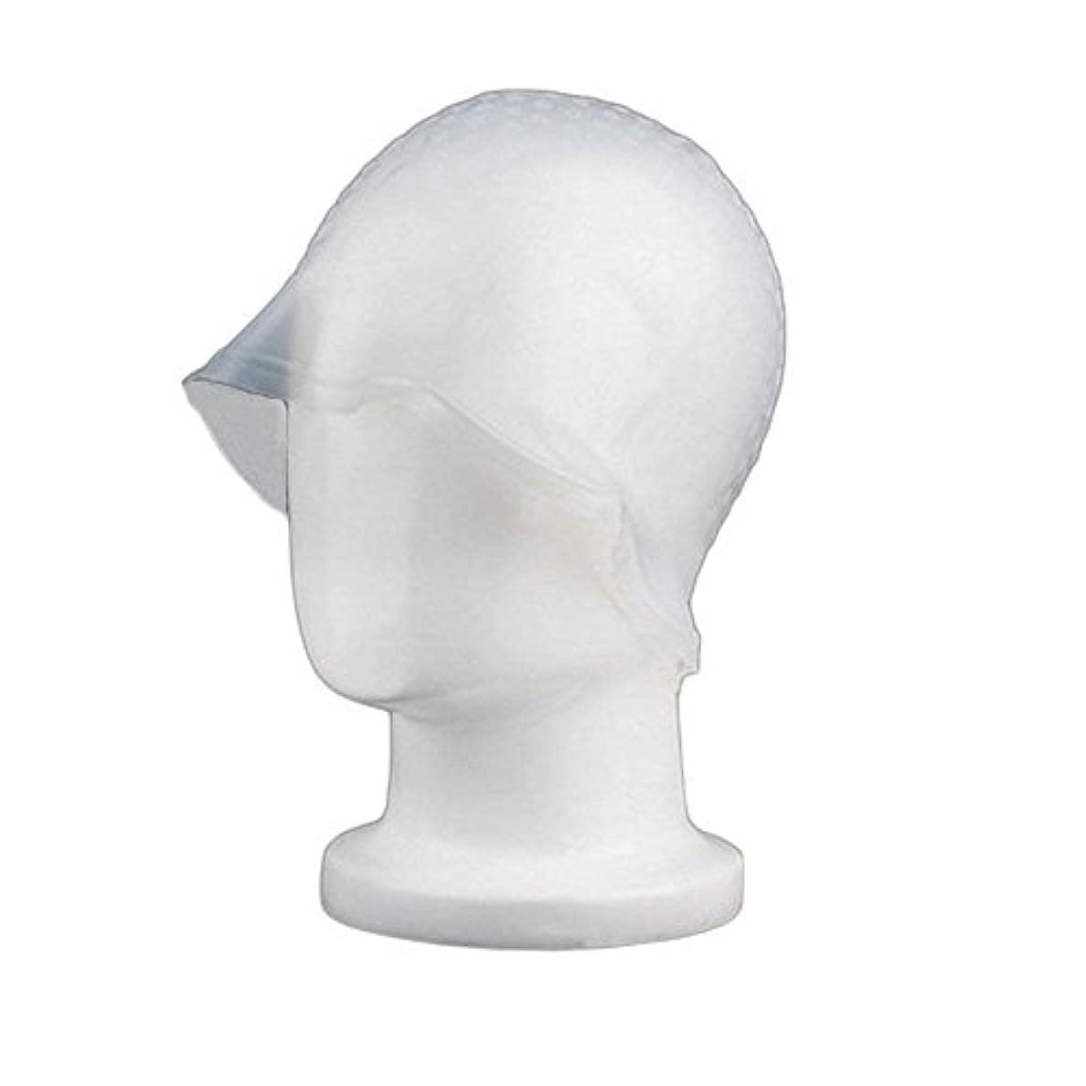 ファイバまで過剰Sincerestore 洗って使える ヘアカラー 染め用 メッシュ 用 シリコン ヘア キャップキャップ (ホワイト)