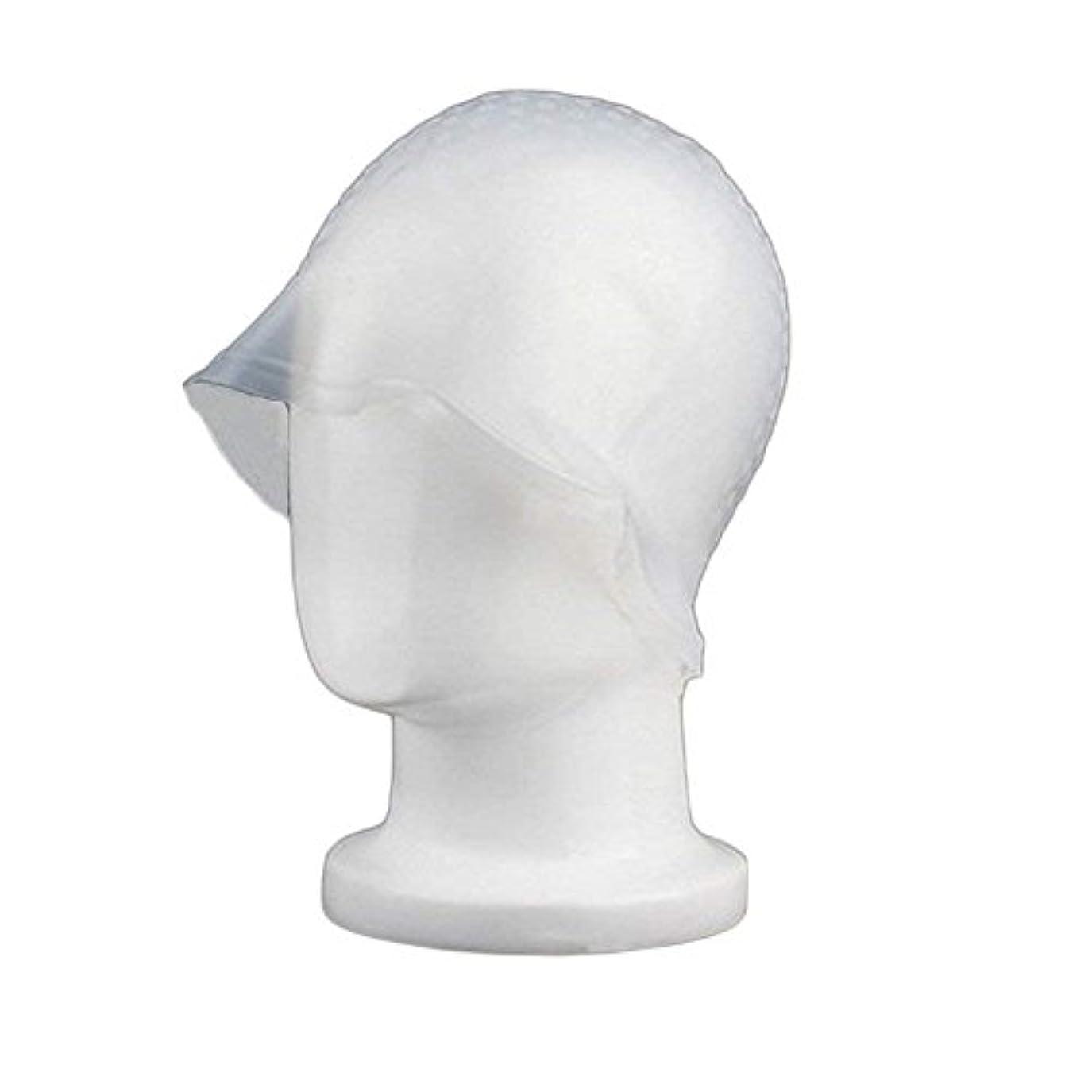 エクステントあらゆる種類の認知Sincerestore 洗って使える ヘアカラー 染め用 メッシュ 用 シリコン ヘア キャップキャップ (ホワイト)