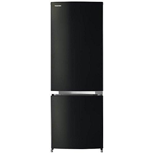 東芝 2ドア冷蔵庫 「BSシリーズ」 (171L・右開き) ピュアブラック GR-M17BS-K
