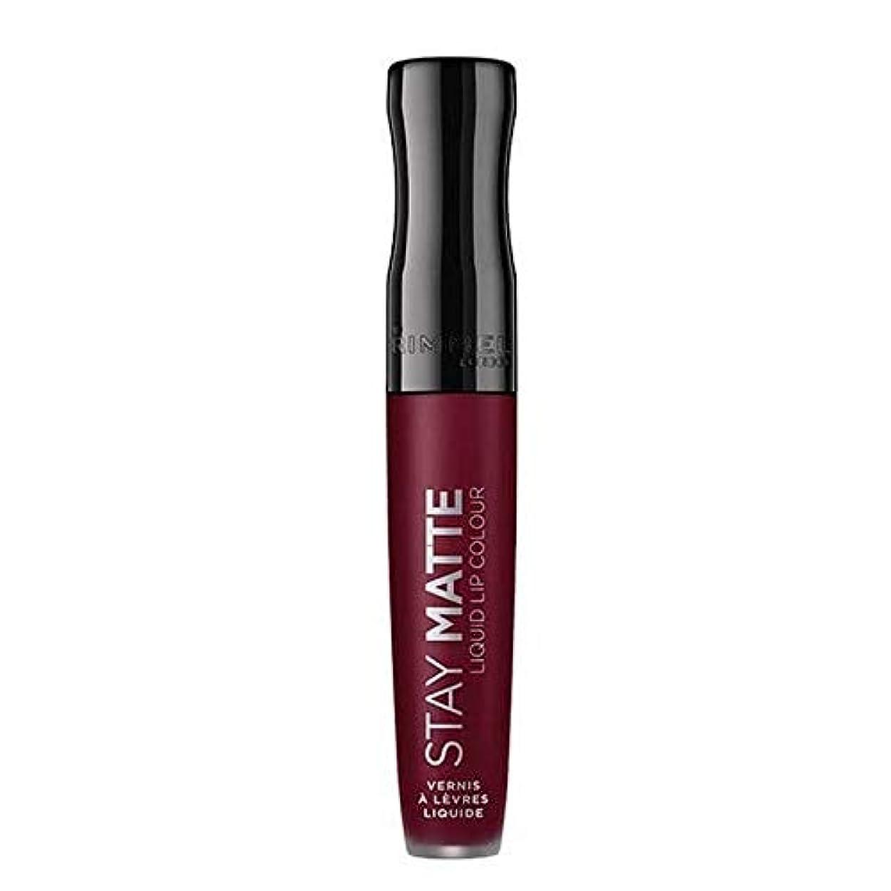 注ぎます貫通期限[Rimmel ] リンメルステイマット液状口紅梅このショー810 - Rimmel Stay Matte Liquid Lipstick Plum This Show 810 [並行輸入品]