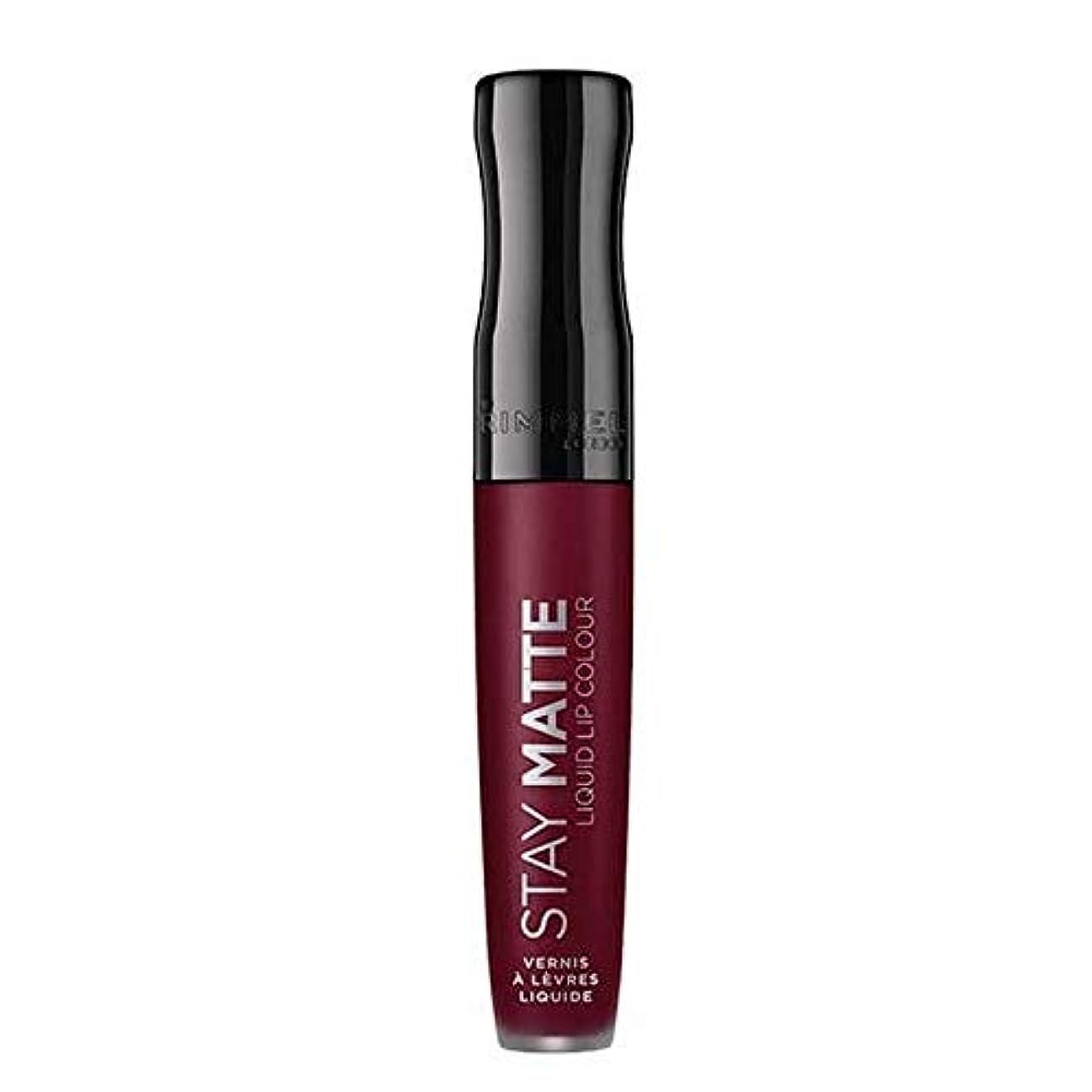 雑多な苦難生態学[Rimmel ] リンメルステイマット液状口紅梅このショー810 - Rimmel Stay Matte Liquid Lipstick Plum This Show 810 [並行輸入品]