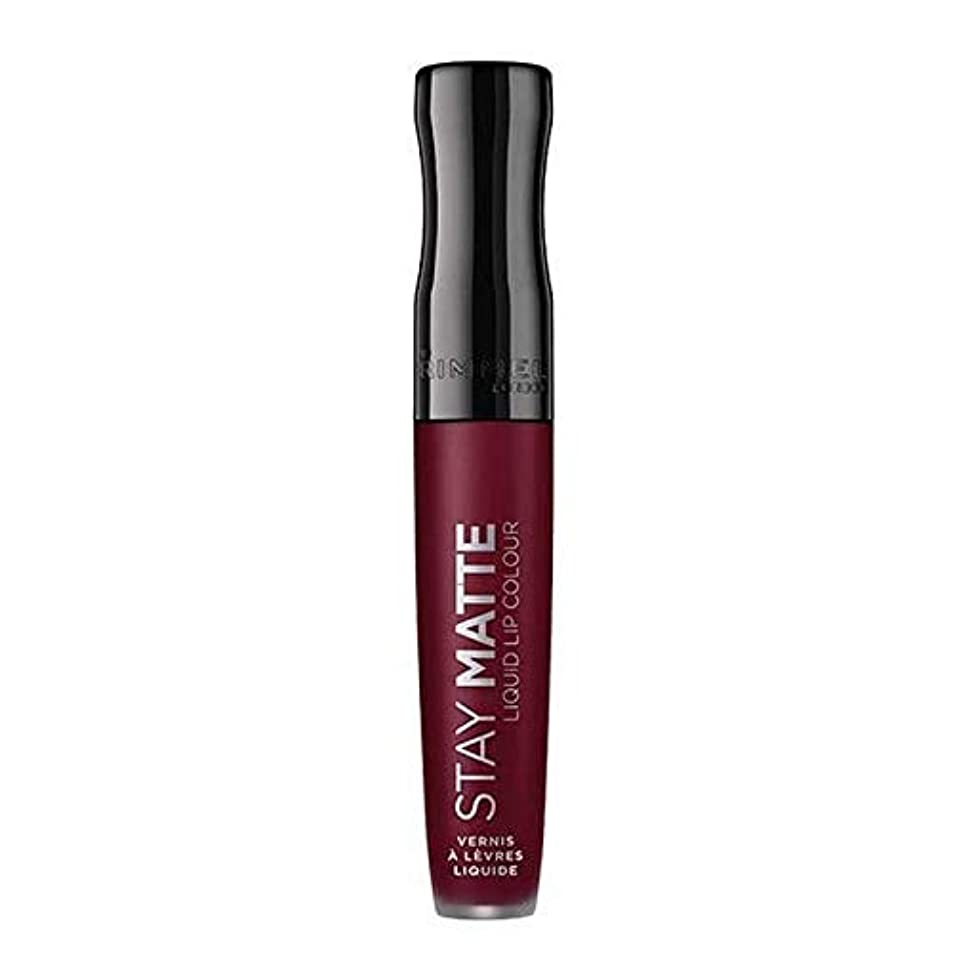 [Rimmel ] リンメルステイマット液状口紅梅このショー810 - Rimmel Stay Matte Liquid Lipstick Plum This Show 810 [並行輸入品]
