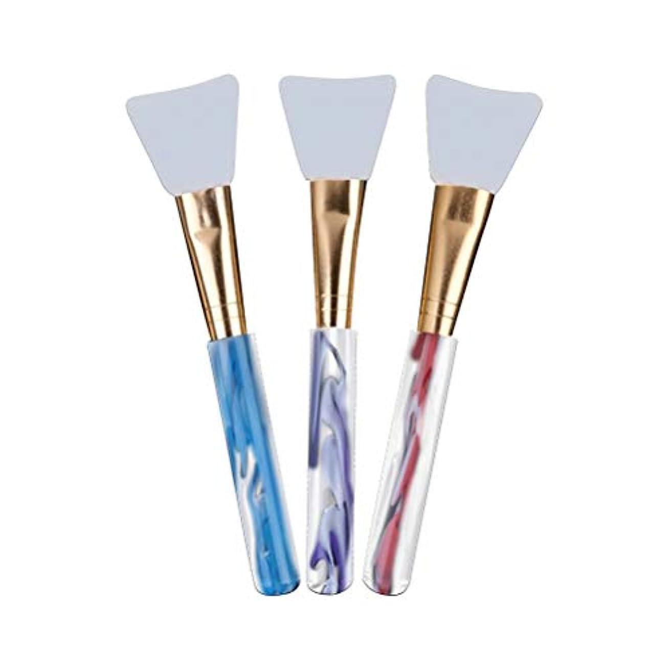 三規則性エネルギーFrcolor マスクブラシ シリコン メイクブラシ マスク用 ビューティーツール マスクツール DIY ソフト 多機能 化粧筆 3本セット
