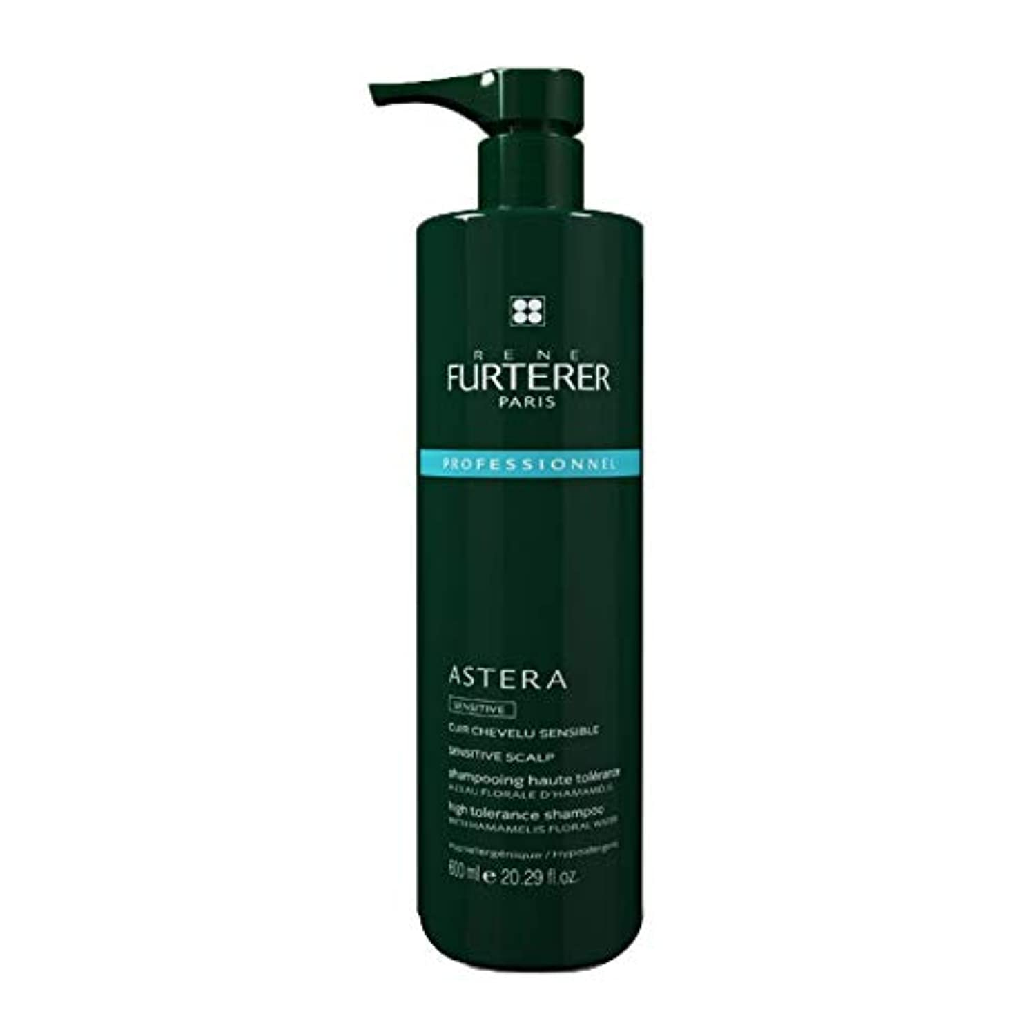 トラフィック発見陰気ルネ フルトレール Astera Sensitive High Tolerance Scalp Ritual Dermo-Protective Shampoo (Sensitive Scalp) 600ml/20.2oz並行輸入品