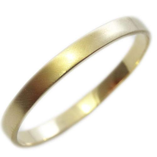 [ファーストコレクション] ピンキーリング 艶消し 18金 指輪 2mm幅 シンプル K18 リング マット加工