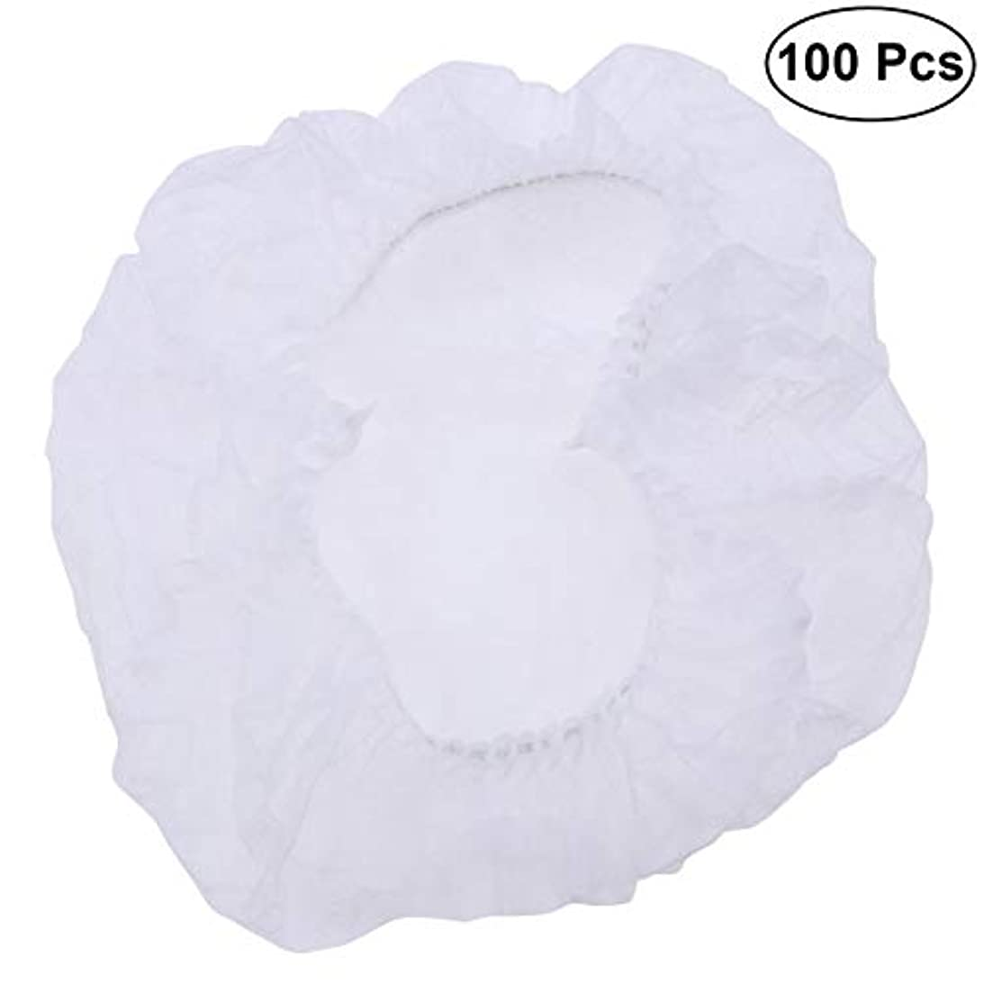 才能恐れ粒子SUPVOX ヘアサロンの家のホテル100pcsのための使い捨て可能なシャワーキャップの伸縮性がある毛の帽子