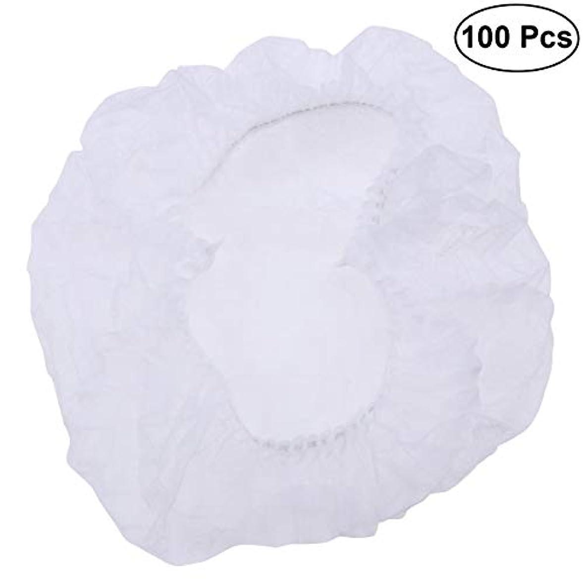 セッションプール少年SUPVOX ヘアサロンの家のホテル100pcsのための使い捨て可能なシャワーキャップの伸縮性がある毛の帽子