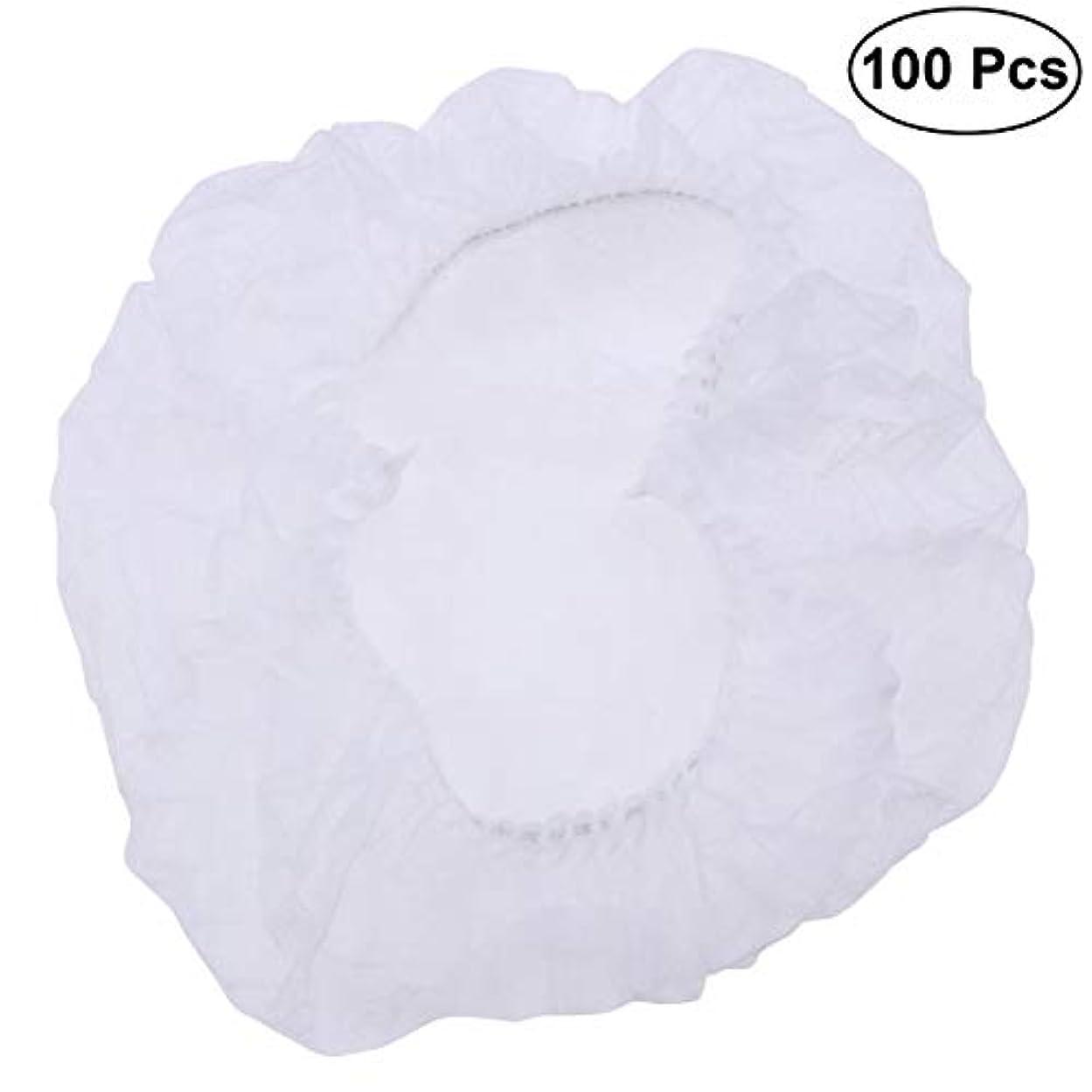 インテリア軽量エレベーターSUPVOX ヘアサロンの家のホテル100pcsのための使い捨て可能なシャワーキャップの伸縮性がある毛の帽子