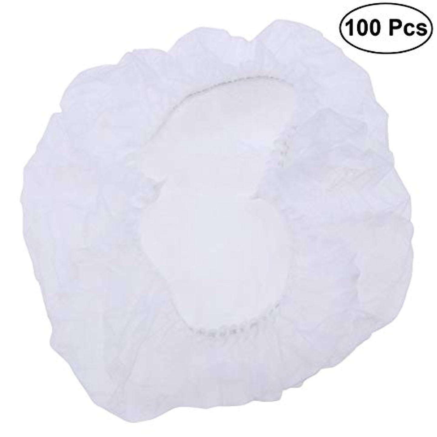 ベスト自由勝利SUPVOX ヘアサロンの家のホテル100pcsのための使い捨て可能なシャワーキャップの伸縮性がある毛の帽子