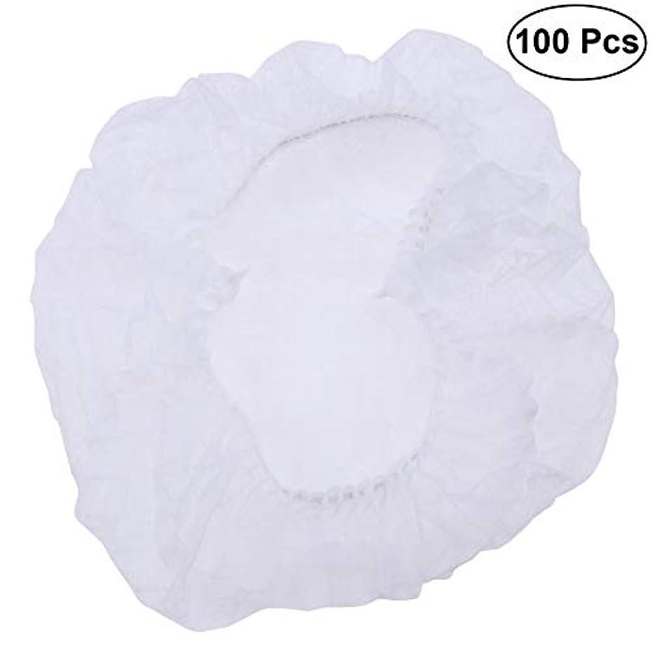 欠陥周り農学SUPVOX ヘアサロンの家のホテル100pcsのための使い捨て可能なシャワーキャップの伸縮性がある毛の帽子