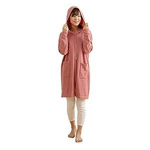 ナイスデイ 着る毛布 ピンク Mサイズ ふんわりニット ロングカーディガン ルームウェア フード付 39102201
