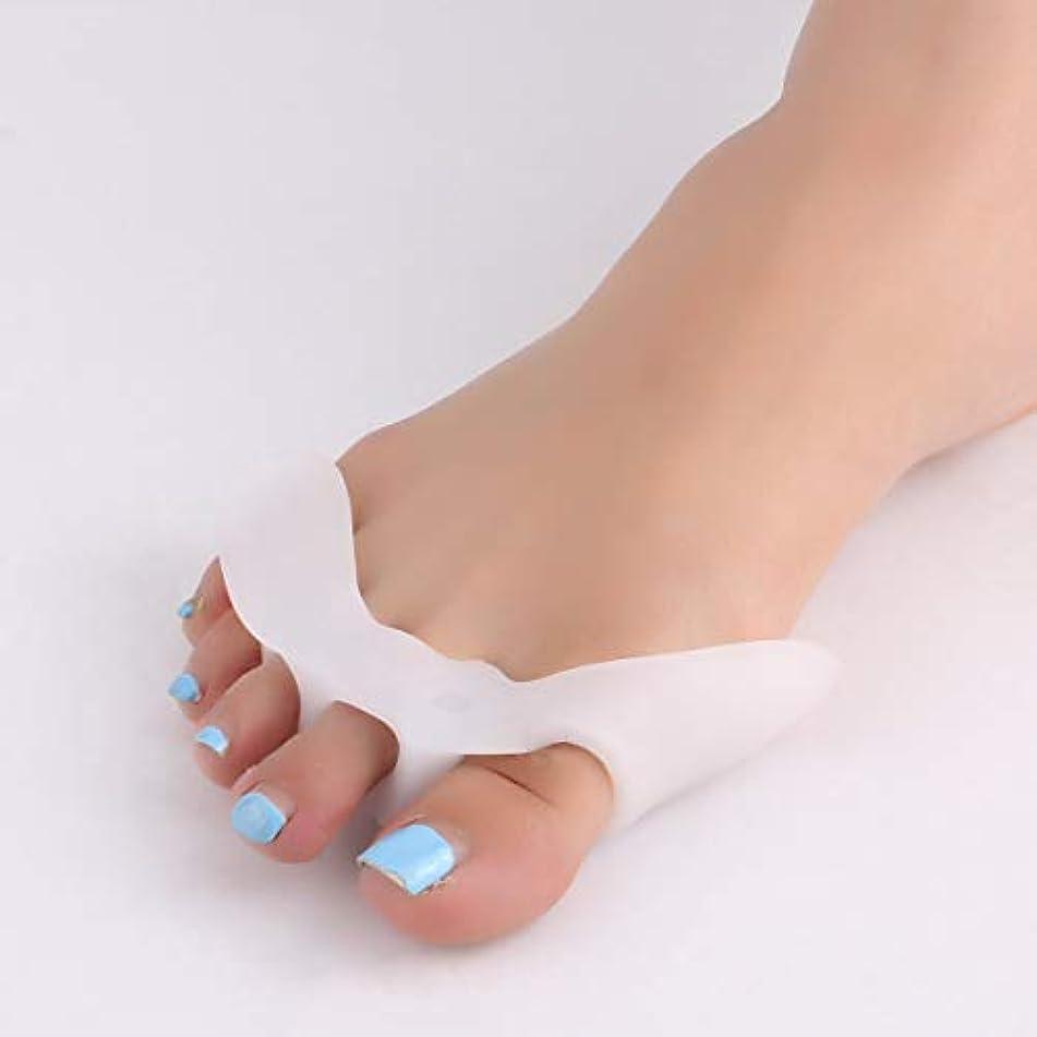 分離フットボール貸し手1 Pair Silicone Toe Separator with 5 Holes Feet Care Braces Supports Tools Bunion Guard Foot Hallux Valgus