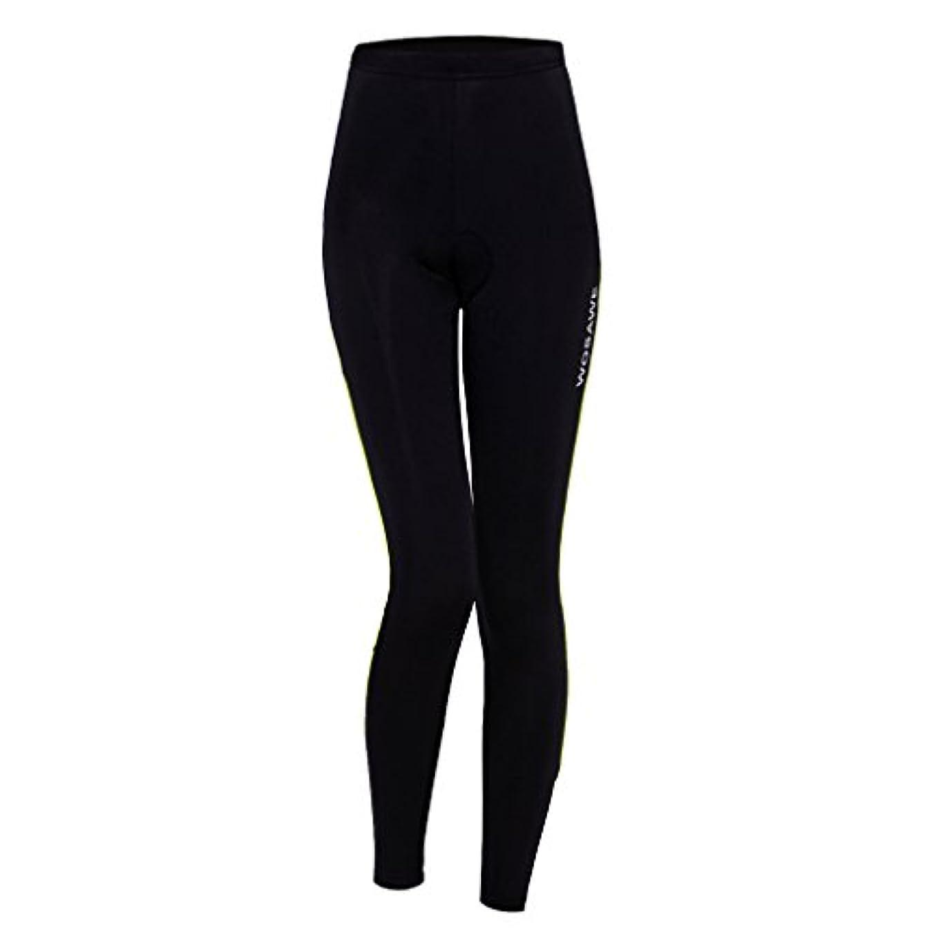 トライアスロン給料束ねるFlameer 女性 サイクリング パンツ 自転車 サイクリングタイツ ロングパンツ スポーツウェア 弾力性 全4サイズ