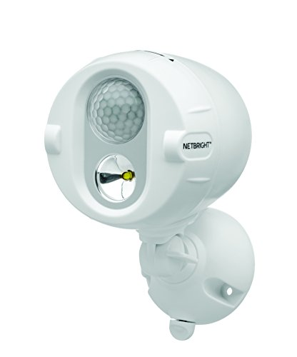 MR BEAMS(ミスタービームス) NETBRIGHT(ネットブライト) LED 人感センサー ライト「無線連動タイプで最大50個まで連結可能」 乾電池式 2個セット ホワイト MBN342