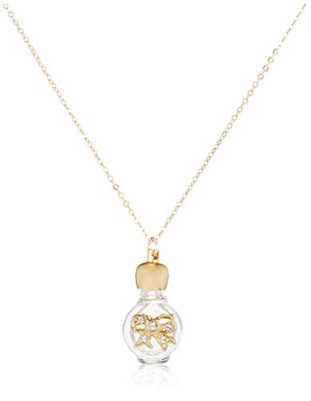 年ペルセウス広々ヒロセアトマイザー 飾り付 アロマペンダント密閉栓タイプ 12074P リボン (ゴールド)