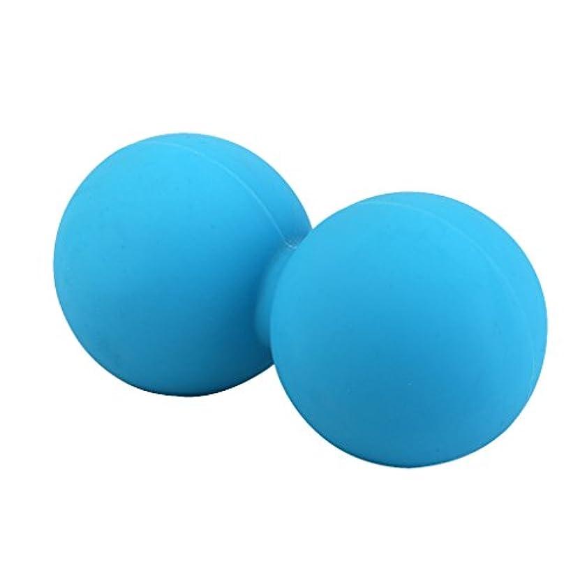 きしむデイジー放置Footful マッサージボール 健康グッズ 健康器具 血液循環促進 緊張緩和 ブルー 固体