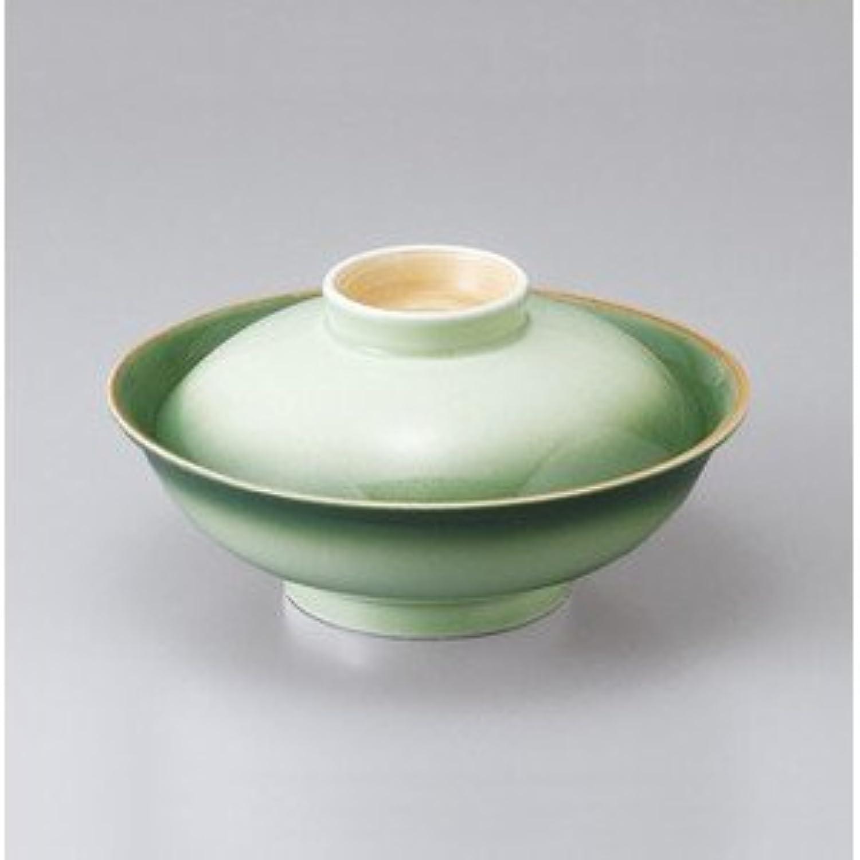 【美濃焼 蓋物】 緑彩平蓋向  / お楽しみグッズ(キッチン用品) 付きセット