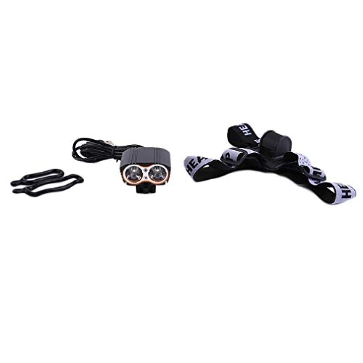 体積極的に欲望自転車ライト USB充電式 高輝度 防水 3モード ヘッドライト 2000ルーメン フロントLEDライト 簡単に取り付け アウトドア 防災 サイクリング適用 ブラック