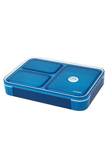シービージャパン 弁当箱 クリアブルー 薄型 フードマン 600ml DSK