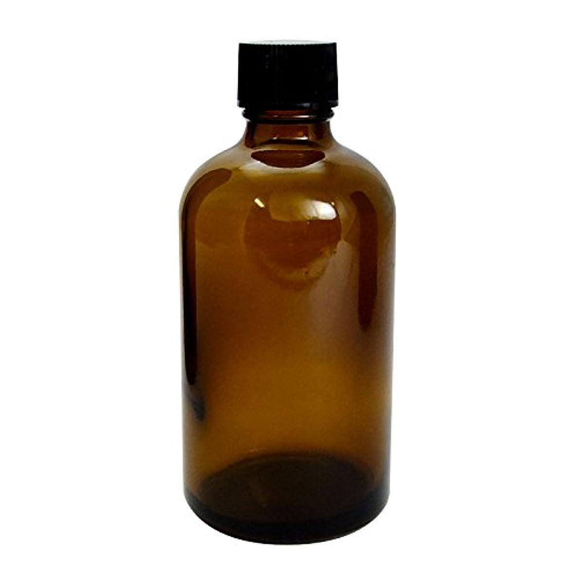 稚魚富豪瞳遮光瓶 茶 100cc SYA-T100cc (黒CAP 穴なし中栓付)