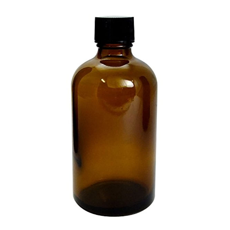 ウミウシアウター定常遮光瓶 茶 100cc SYA-T100cc (黒CAP 穴なし中栓付)