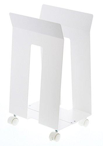山崎実業 ダンボール収納 ダンボール&紙袋ストッカー フレーム ホワイト 3301