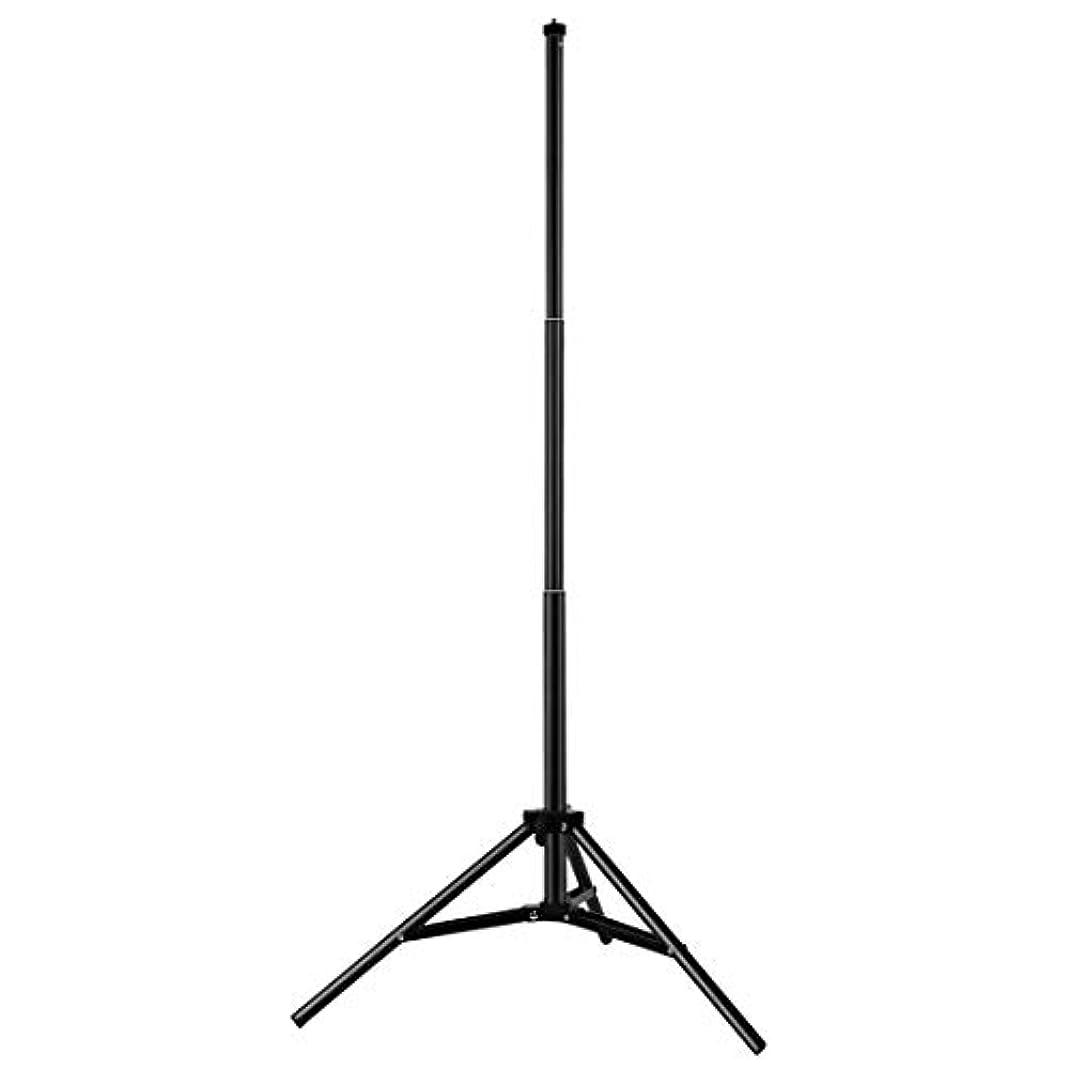 慢性的実質的魔女YINZHIカメラアクセサリー、 Vloggingビデオライトライブ放送キット用 1.7メートルの高さ三脚マウントホルダー 、お使いのデバイスに対応 (色 : Black)