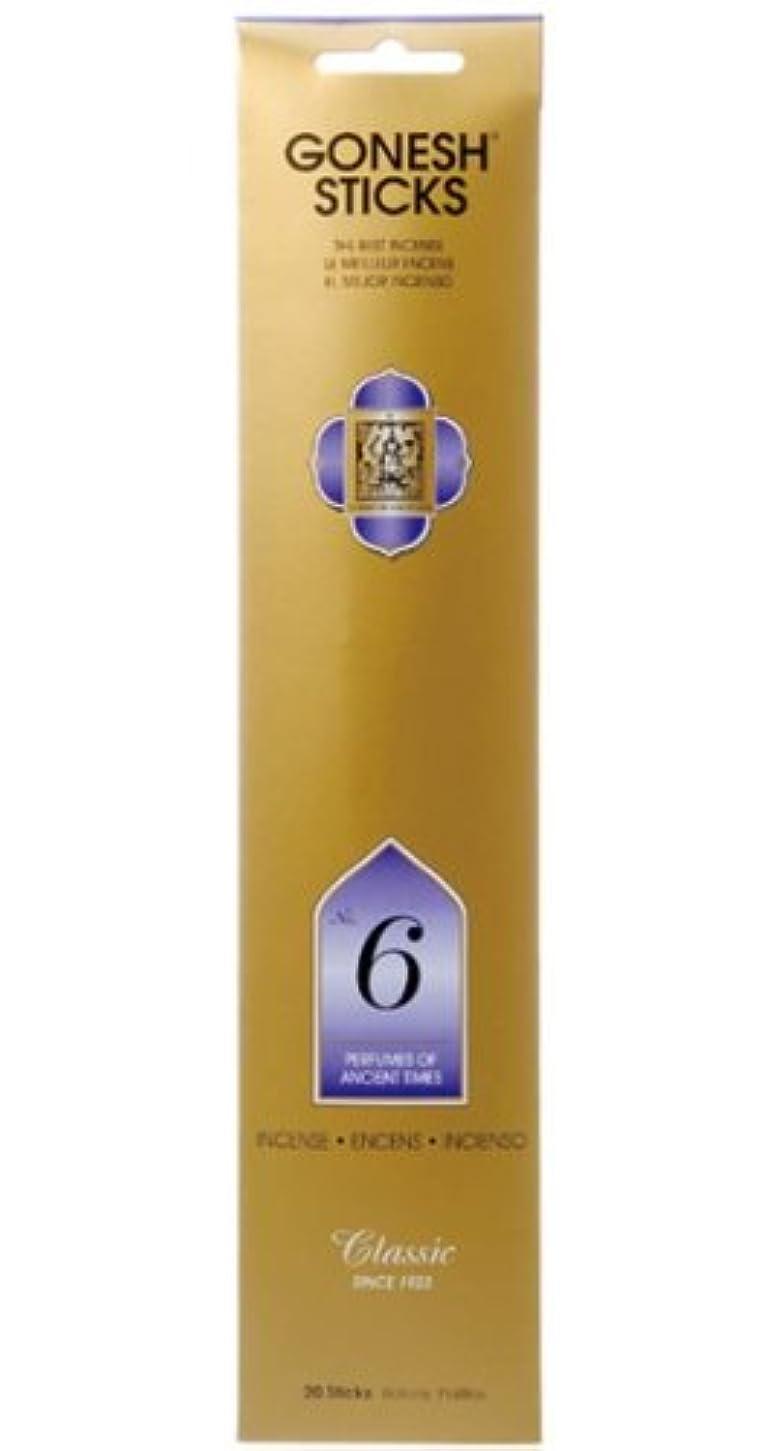 Gonesh お香 スティックタイプ クラシックコレクション - No.6 いにしえの香り 5袋 (合計100本)