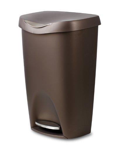 umbra ペダル式ゴミ箱 BRIM CAN(ブリムカン) ブロンズ 50L 2084200-125