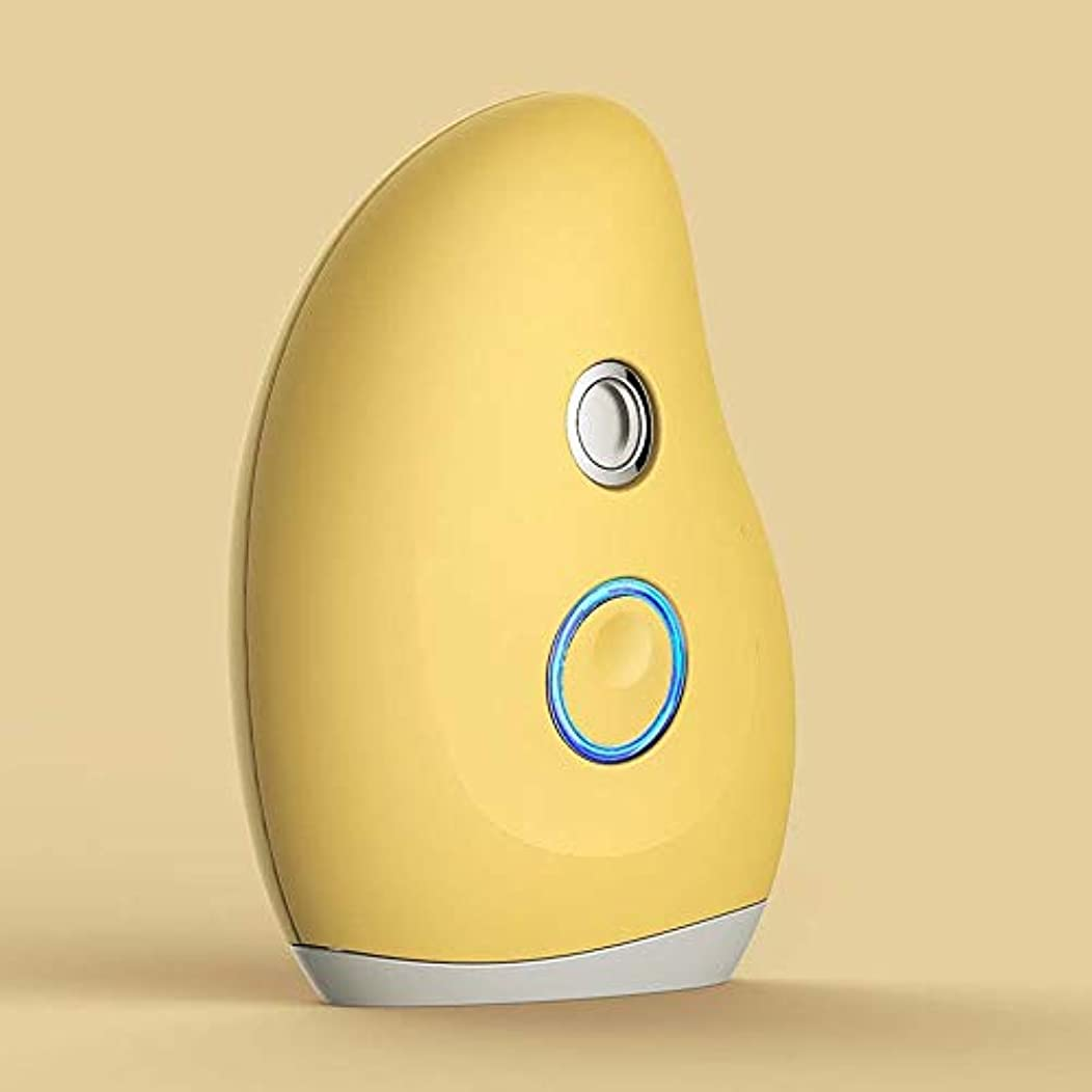 スローガン矢印ひばりZXF ナノハンドヘルドスプレーポータブル水分補給美容器具マンゴー形状コールドスプレースチーマーABS材料赤セクション黄色セクション 滑らかである (色 : Yellow)