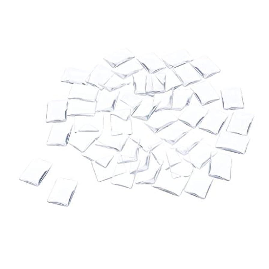スクランブル経過複製DYNWAVE ネイルチップ クリア ネイルフルチップ スクエアタイプ 透明 ネイルカラーディスプレイ カード 全7種 - 矩形