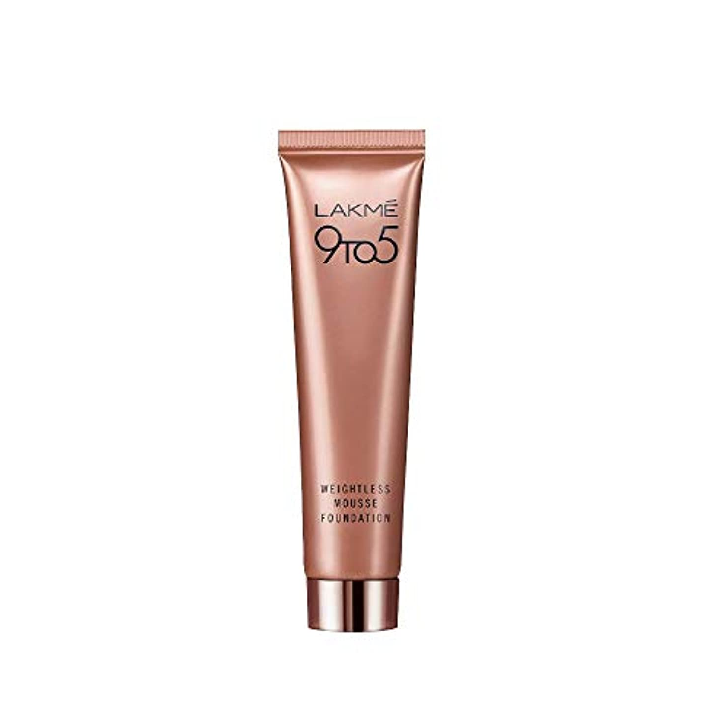 過言検査食物Lakme 9 to 5 Weightless Mousse Foundation, Rose Ivory, 29 g