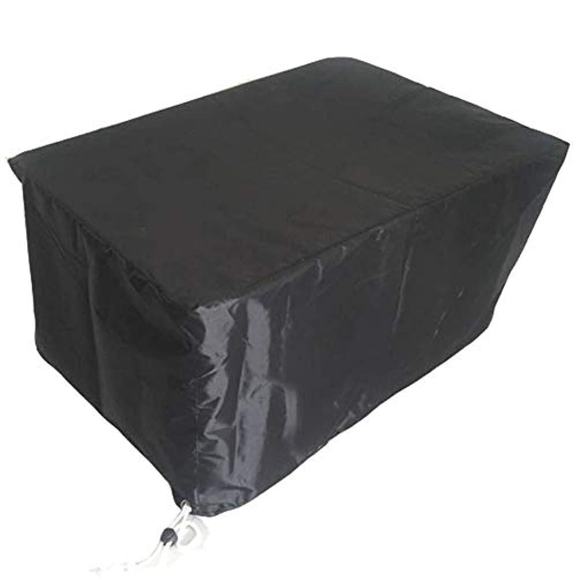 確保する対応する初期ダストカバー - ガーデンラタン家具セット防水日除けテーブルと椅子屋外ガーデンライトPVC +ポリエステル(12サイズ) 分離ダスト (色 : ブラック, サイズ さいず : 308x138x98cm)